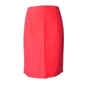 J. CREW pencil skirt in coral, POCKETS! Sz 4